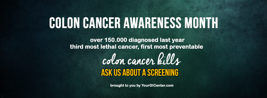 Colon Cancer Awareness Month Facebook Cover